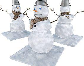 3D bucket Snowman