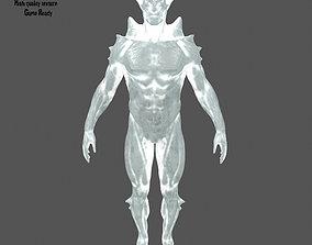 3D model VR / AR ready ice monster
