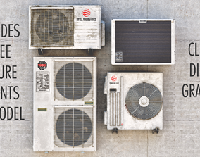 Air Conditioning Units 3D model