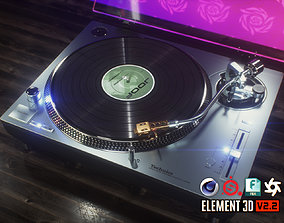 3D Technics Turntable Vinyl Record Player