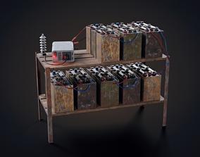 3D asset Handmade battery bank