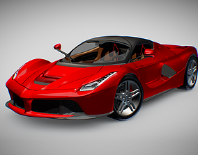 3D asset Ferrari LaFerrari V12