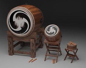 Taiko Drum Set 3D