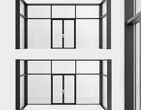 Panoramic windows Door Entrance 5 3D model
