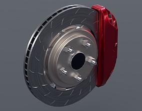 3D asset Brake Disc with caliper