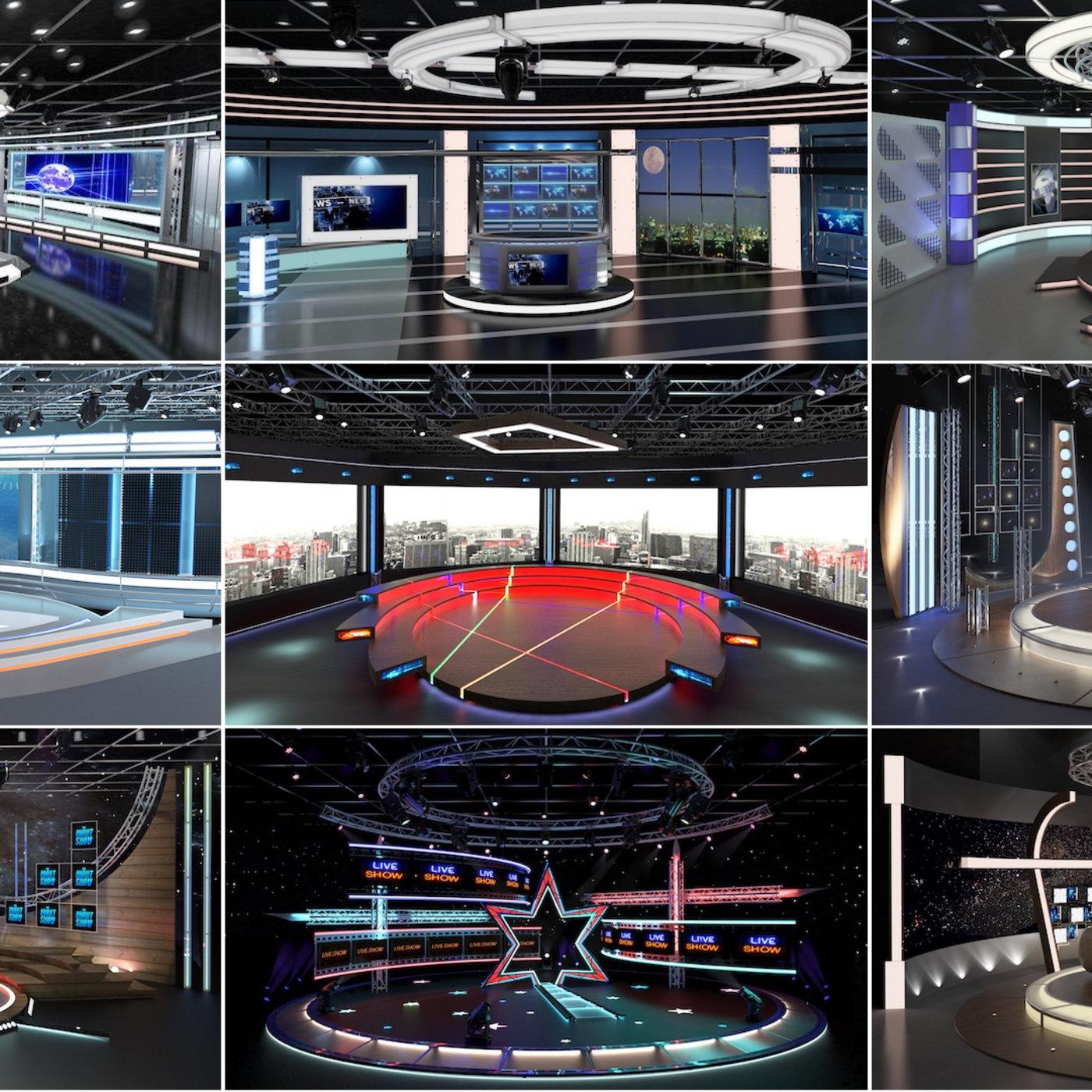 Virtual TV Studio Sets -3d models