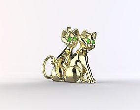 3D printable model Double Cat Pendant