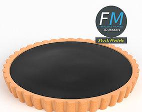 3D model Chocolate tart pie