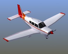 Piper Cherokee Light Aircraft 3D asset