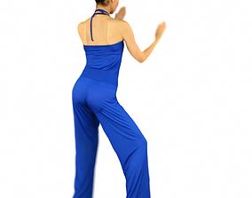 Blue Karateka 3D model