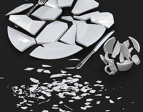 Broken Tableware 3D
