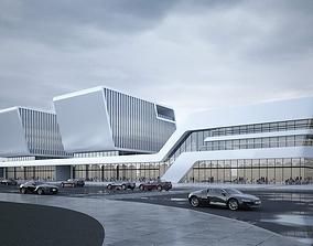 3D model Exterior Office Building Scene 051