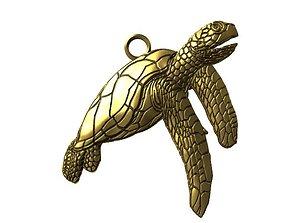 3D printable model Turtle pendant jewelry