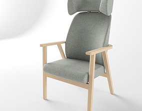 3D model Relaxation Chair Santiago with Headrest 02