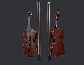 Violin Instrument Game Ready 02 3D asset
