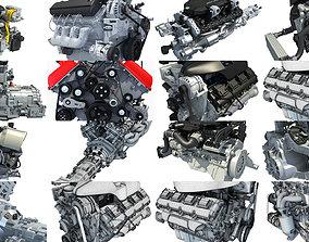 Car Engine 3D Models