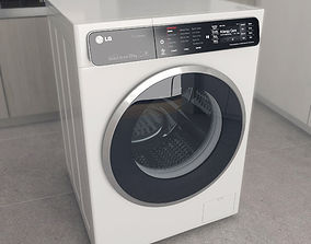 3D asset Washing machine LG F14U1JBS2