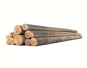3D asset Wooden Logs