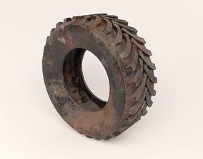 3D Dirty truck tire
