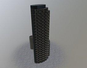 3D model London Apartment Tower