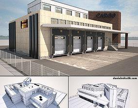 3D asset Cargo Building TIR Low Poly