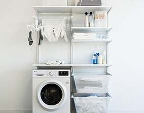 socks 3D IKEA wall module Algot 8 washing machine