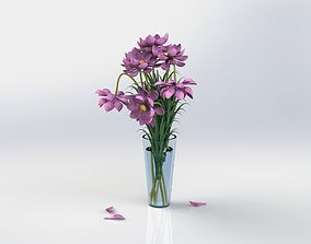 3D Vase with flowers
