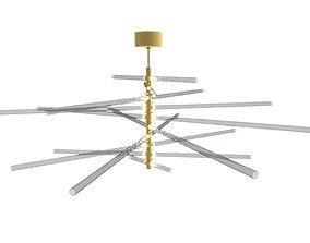 Eos Barochelli Custom Design Chandelier 3D