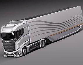 Scania R1000 2014 AeroTrailer 3D