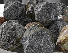 3D model game-ready game Rocks