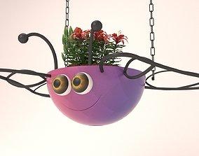3D printable model Butterfly Hanging Basket - Flowepot