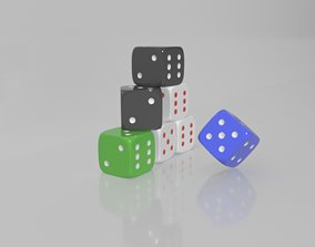 Pieces Dice 3D printable model