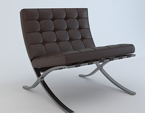 3D model Barcelona Chair leatherchair