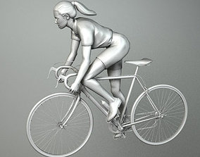 game 3D model WOMAN CYCLIST