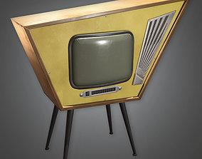MCN - Retro Television Midcentury - PBR Game 3D asset
