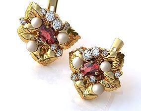 3D Earrings BS036