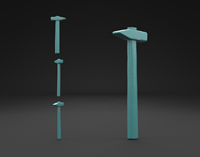 Scanned Old Damaged Hammer 3D Print Model