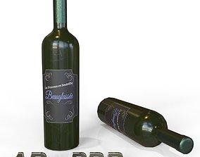 Wine Bottle AR - PBR Model game-ready