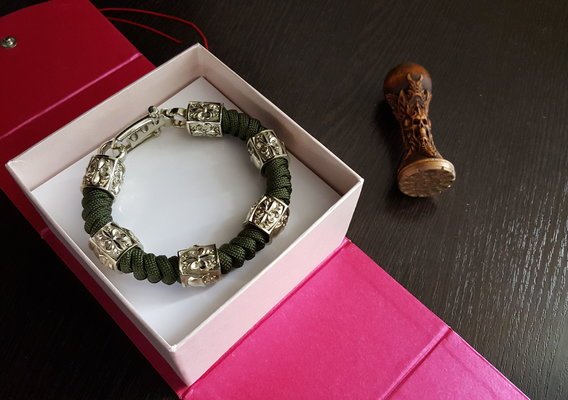 Bracelet with a skull