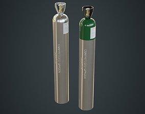 Gas Cylinder 2B 3D asset