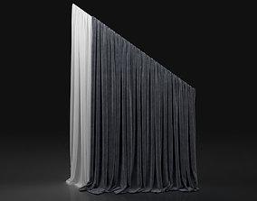 Curtain Grey-6 3D