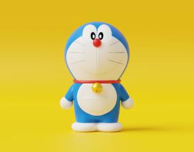 3D asset low-poly Doraemon