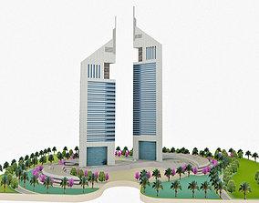 3D asset Dubai Jumeirah Emirates Towers