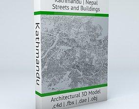3D Kathmandu Streets and Buildings
