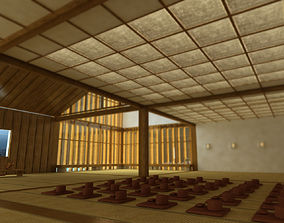 3D Japanese meditation room