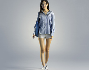 3D model Woman Jess Casual Walking 001
