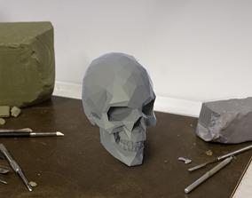 Low Poly 3D SKULL skull