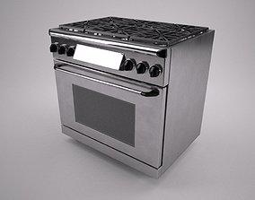 3D model 36 inch gas range cooker