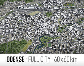 Odense - city and surroundings 3D model