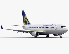Boeing 737-800 Continental Airlines 3D animated